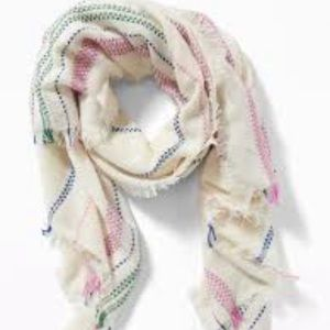 NWT! Old Navy fringed Textured-striped scarf